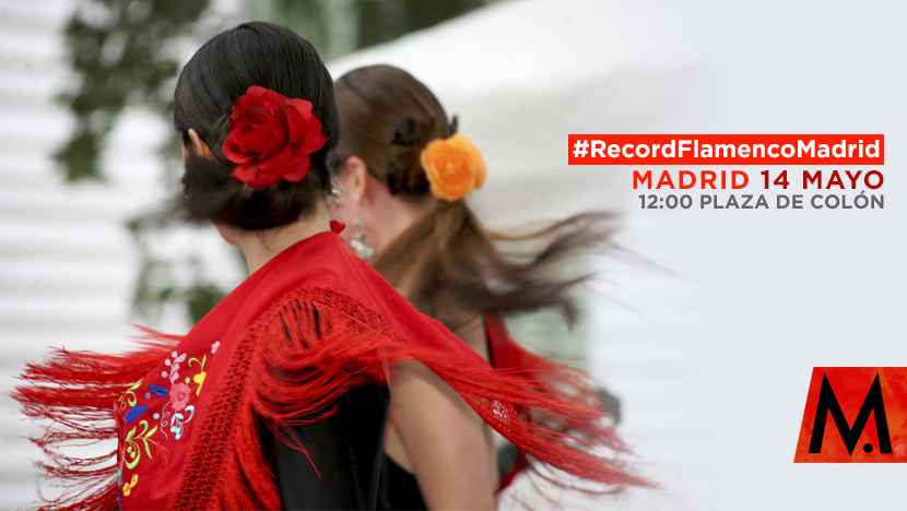 Record Flamenco Madrid de gente bailando flamenco